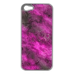 Wonderful Marbled Structure C Apple Iphone 5 Case (silver) by MoreColorsinLife