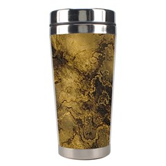Wonderful Marbled Structure B Stainless Steel Travel Tumblers by MoreColorsinLife