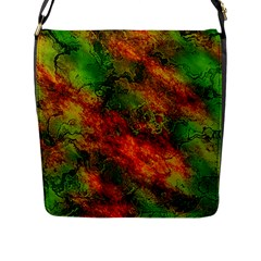Wonderful Marbled Structure F Flap Messenger Bag (l)  by MoreColorsinLife