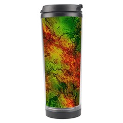Wonderful Marbled Structure F Travel Tumbler by MoreColorsinLife