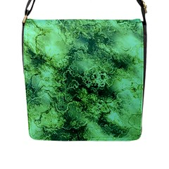 Wonderful Marbled Structure I Flap Messenger Bag (l)  by MoreColorsinLife