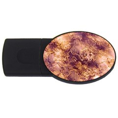 Wonderful Marbled Structure I Usb Flash Drive Oval (2 Gb) by MoreColorsinLife