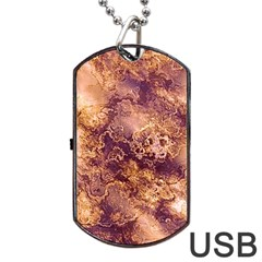 Wonderful Marbled Structure I Dog Tag Usb Flash (one Side) by MoreColorsinLife