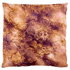 Wonderful Marbled Structure I Large Flano Cushion Case (one Side) by MoreColorsinLife
