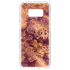 Wonderful Marbled Structure I Samsung Galaxy S8 White Seamless Case by MoreColorsinLife