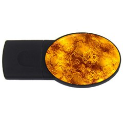 Wonderful Marbled Structure H Usb Flash Drive Oval (2 Gb) by MoreColorsinLife