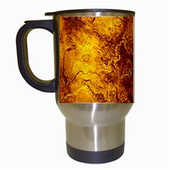 Wonderful Marbled Structure H Travel Mugs (white) by MoreColorsinLife