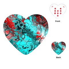 Awesome Fractal 35g Playing Cards (heart)  by MoreColorsinLife