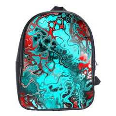 Awesome Fractal 35g School Bag (large) by MoreColorsinLife