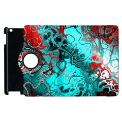 Awesome Fractal 35g Apple Ipad 3/4 Flip 360 Case by MoreColorsinLife