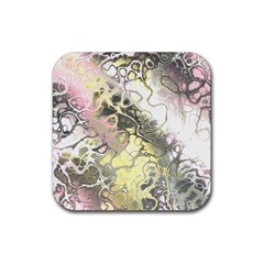 Awesome Fractal 35h Rubber Square Coaster (4 Pack)  by MoreColorsinLife