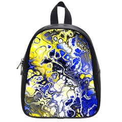 Awesome Fractal 35a School Bag (small) by MoreColorsinLife