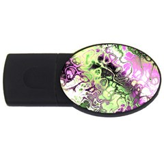 Awesome Fractal 35d Usb Flash Drive Oval (2 Gb) by MoreColorsinLife