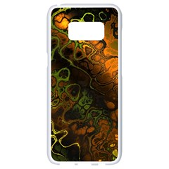 Awesome Fractal 35e Samsung Galaxy S8 White Seamless Case by MoreColorsinLife
