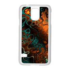 Awesome Fractal 35f Samsung Galaxy S5 Case (white) by MoreColorsinLife