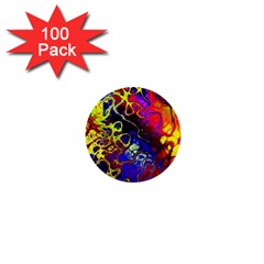 Awesome Fractal 35c 1  Mini Buttons (100 Pack)  by MoreColorsinLife