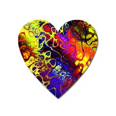 Awesome Fractal 35c Heart Magnet by MoreColorsinLife