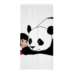 Girl And Panda Shower Curtain 36  X 72  (stall)