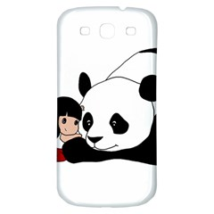 Girl And Panda Samsung Galaxy S3 S Iii Classic Hardshell Back Case by Valentinaart
