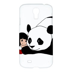 Girl And Panda Samsung Galaxy S4 I9500/i9505 Hardshell Case