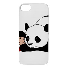 Girl And Panda Apple Iphone 5s/ Se Hardshell Case by Valentinaart