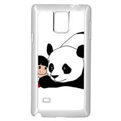 Girl And Panda Samsung Galaxy Note 4 Case (white)