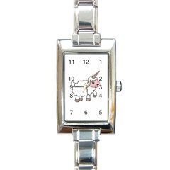 Unicorn Sheep Rectangle Italian Charm Watch by Valentinaart