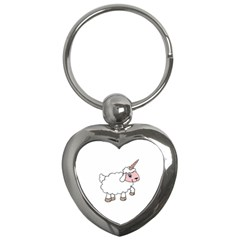 Unicorn Sheep Key Chains (heart)  by Valentinaart