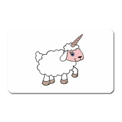 Unicorn Sheep Magnet (rectangular) by Valentinaart