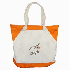 Unicorn Sheep Accent Tote Bag by Valentinaart