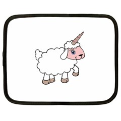 Unicorn Sheep Netbook Case (large) by Valentinaart