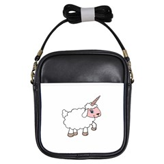 Unicorn Sheep Girls Sling Bags by Valentinaart