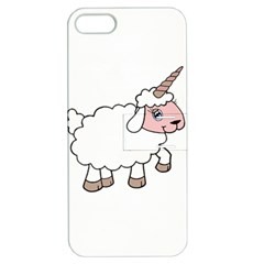 Unicorn Sheep Apple Iphone 5 Hardshell Case With Stand by Valentinaart