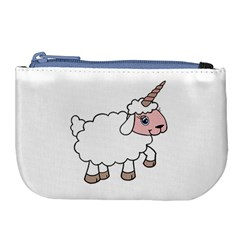 Unicorn Sheep Large Coin Purse by Valentinaart