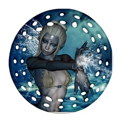 The Wonderful Water Fairy With Water Wings Ornament (round Filigree) by FantasyWorld7
