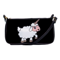Unicorn Sheep Shoulder Clutch Bags by Valentinaart