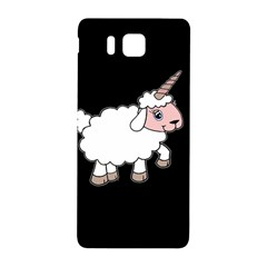 Unicorn Sheep Samsung Galaxy Alpha Hardshell Back Case by Valentinaart