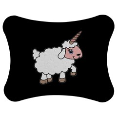 Unicorn Sheep Jigsaw Puzzle Photo Stand (bow) by Valentinaart