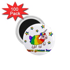 Unicorn Sheep 1 75  Magnets (100 Pack)  by Valentinaart
