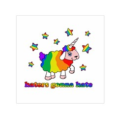 Unicorn Sheep Small Satin Scarf (square) by Valentinaart