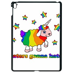 Unicorn Sheep Apple Ipad Pro 9 7   Black Seamless Case by Valentinaart