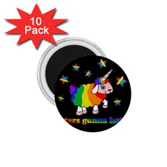 Unicorn Sheep 1 75  Magnets (10 Pack)