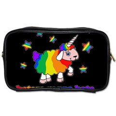 Unicorn Sheep Toiletries Bags by Valentinaart