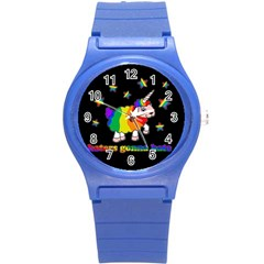 Unicorn Sheep Round Plastic Sport Watch (s)