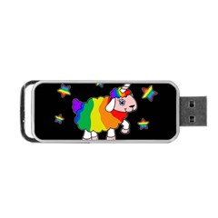 Unicorn Sheep Portable Usb Flash (two Sides) by Valentinaart