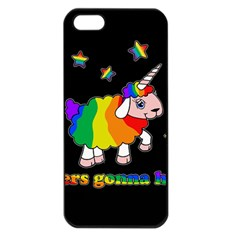 Unicorn Sheep Apple Iphone 5 Seamless Case (black) by Valentinaart