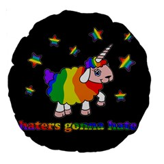 Unicorn Sheep Large 18  Premium Round Cushions by Valentinaart