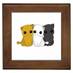 Cute Cats Framed Tiles by Valentinaart