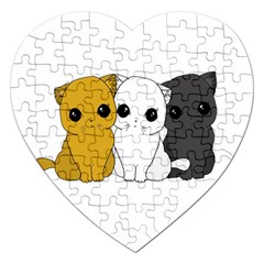 Cute Cats Jigsaw Puzzle (heart) by Valentinaart