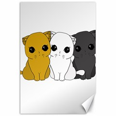 Cute Cats Canvas 20  X 30   by Valentinaart